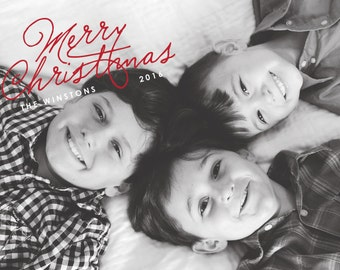 Merry Christmas, Holiday Photo Card, Personalized Card, Custom Holiday Card, Christmas Card