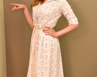 1960's White Lace Dress