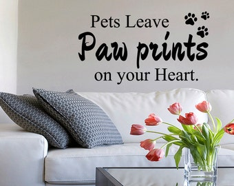 Dog Quote Wall Decal Etsy - Custom vinyl wall decals dogs