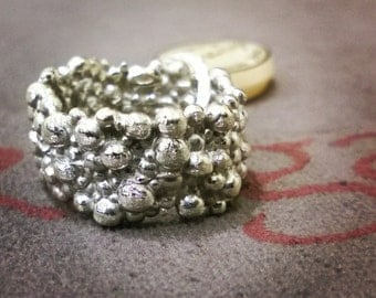 "Ring Silver 925 ""bubbles"""