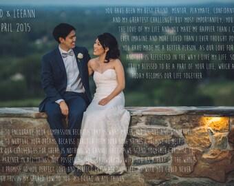 Wedding Vow Picture (Digital)