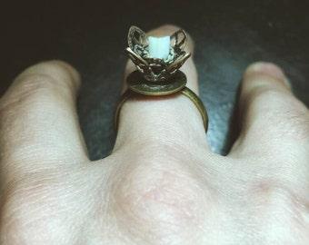 Human Tooth Rose Ring