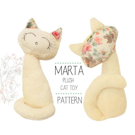 Stuffed Cat sewing pattern Kitten soft toy by SWALLOWPatterns