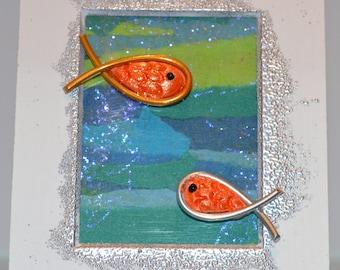 Framette, swimming fish
