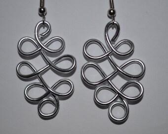 """1 1/2"""" Wire Celtic style earrings"""