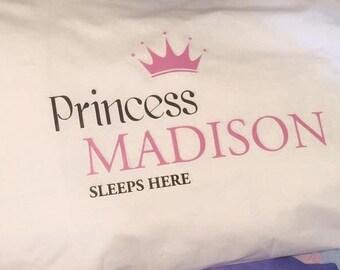 Personalised Princess Standard Pillowcase