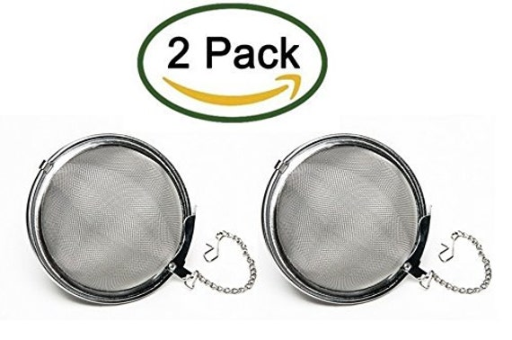 """HQ Stainless Steel Large 2"""" Tea Ball Strainer/Infuser (Pack of 2)"""