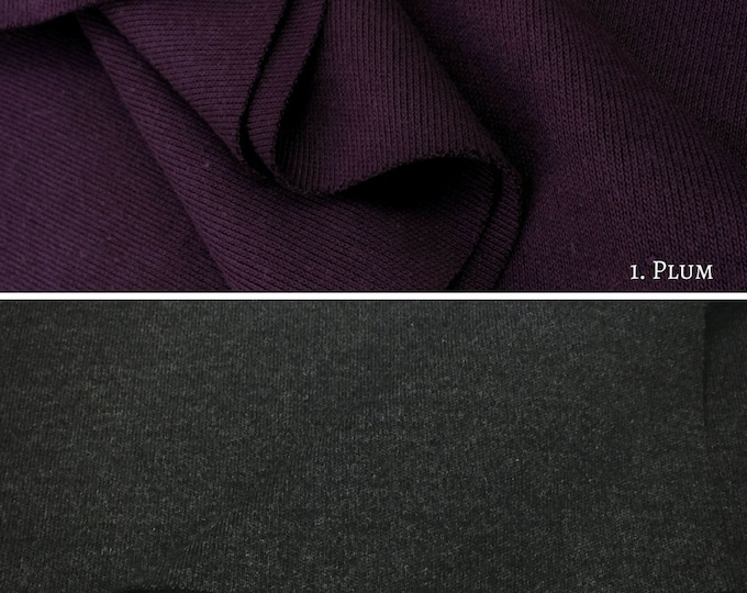 Cotton Blend Interlock Knit Fabric By The Yard (Wholesale Price Available By The Bolt) USA Made - 1011 - 1 Yard