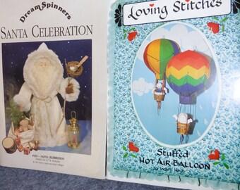 Patterns  1 Santa & 1 Hot  air baloon