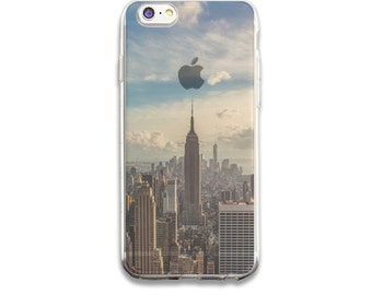 New York - Clear Rubber Case for iPhone 6s and iPhone 6s Plus and iPhone 6 and 6 Plus + and  iPhone SE and iPhone 5/5s and 5c