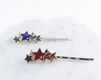 Star combo hairpins; star accessories, shining stars