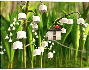 "Giclee Canvas Wall Art ""Lily of the Valley"" by Cynthia Decker"