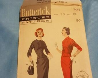 1960 Butterick #2542 size 12 UNCUT