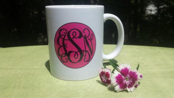 Customized Monogram Mug | Gift For Friend | Mongrammed Coffee Mug