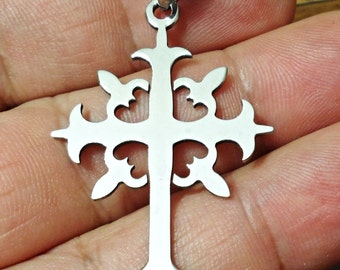Beautiful Stainless Steel Cross Pendant / N2