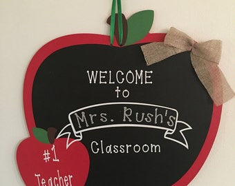 Personalized Teacher Classroom Sign