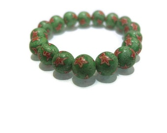 Green Floral Fashion Bracelet