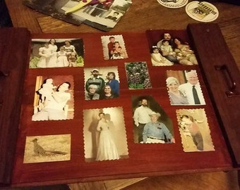 Found wood Tray or wall hanger.