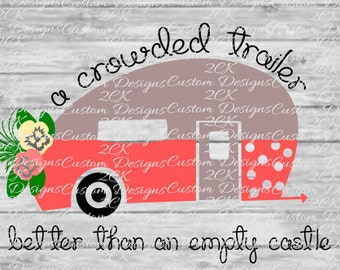 A crowded trailer svg
