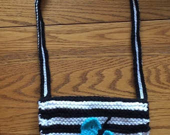 Black and White Striped handbag