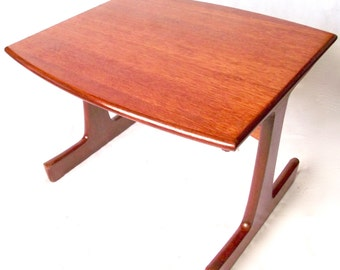 Super Retro Vintage Solid Teak Danish 1960's 1970's  G plan quirky & well made coffee table