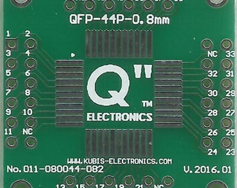 "QFP44 0.80mm(0.032"") to 4 x IDC2x6 connector."