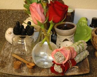 Rose & White Sage Smudging Bundles (small)