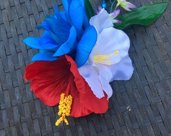 Red, White, and Blue Firework Flower