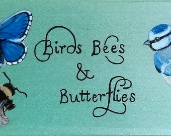 Wall plaque Birds Bees and Butterflies