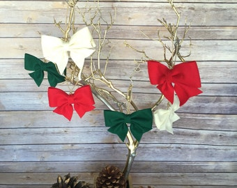 Handmade felt ribbon Christmas ornament