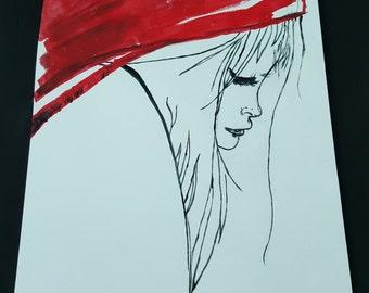 Red sadness