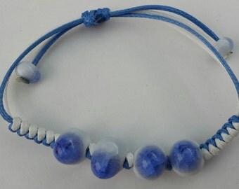Girls Jewelry Blue Ceramic Bracelet