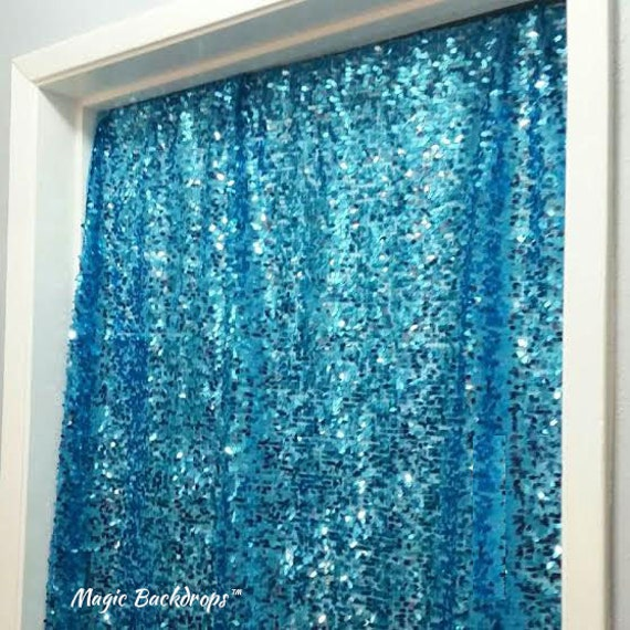 Mermaid Birthday Party Sequin Backdrop Under The Sea Party
