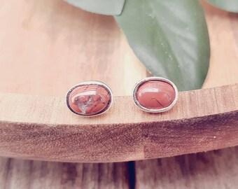 Bryony Oval Stud Earrings, Sterling Silver, Choose Your Gemstone, Oval Earrings, Stud Earrings, Silver Stud Earrings, Silver Studs