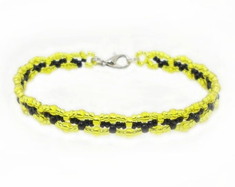 Fan - bracelet football Bundesliga - club bracelet - yellow / black #2 (BS-1318)