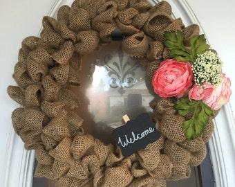 Handmade Burlap Wreath