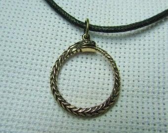 Ouroboros or Uroboros Pendant Bronze Amulets Infinity
