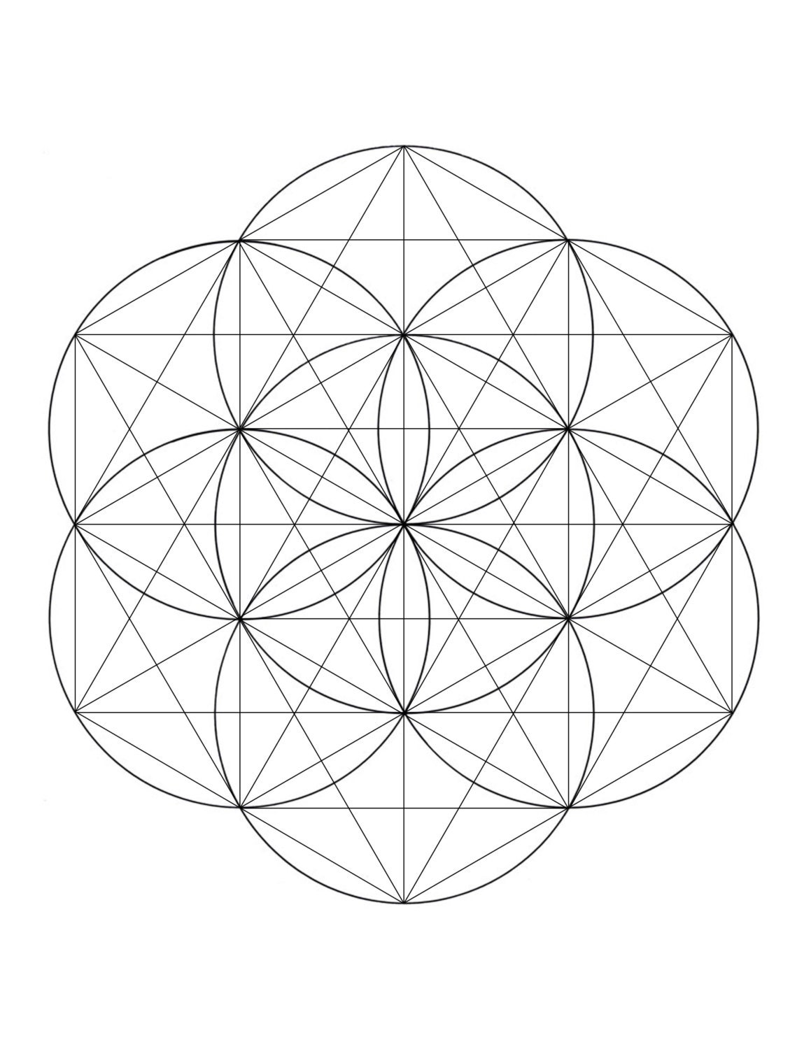Légend image with printable crystal grid
