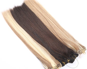 "Hand Tied Hair Extension Weft 18"" Length"