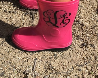 Monogram decal for your rain boots !!