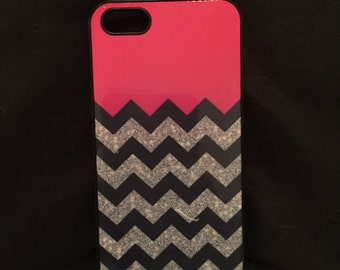 Pink Chevron iPhone 5 Case