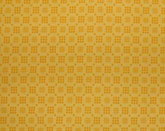 Orange Fabric Yellow Lattice in Lemon Pie Making Day by Brenda Ratliff RjR Fabric Cotton Quilting Fabric, 1/2 Yard Increments