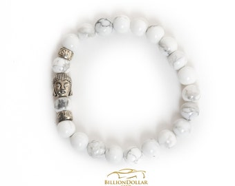 Classy Buddha White Natural Stone Bracelet