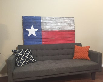 Rustic Texas Flag - Reclaimed Wood