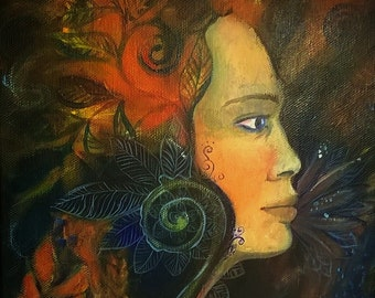 The Woman Original canvas painting Ewa Art