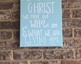 Ephesians 1:11 Canvas
