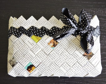 Handmade paper clutch