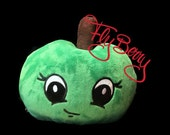 Kids Christmas Gift - Apple Plush Toy Sweet Sour Apple - Minky XXL Sized Apple with Smiley Face - Plush Food for Kids - Christmas Gift Idea