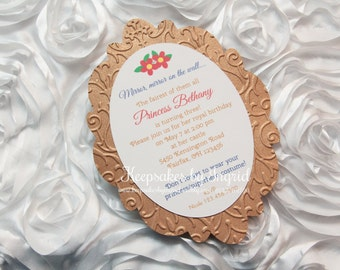Mirror on the wall invitations