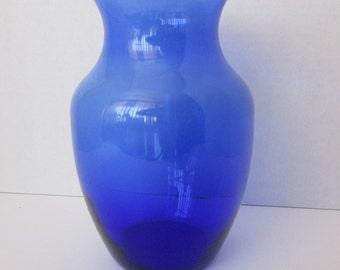 Blue Glass Vase Cobalt Blue